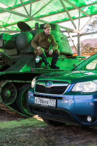 Новый русский.  Subaru Forester Active Edition.