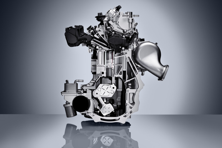 INFINITI's VC-Turbo engine is the world's first production-ready variable compression ratio engine – and it makes its production debut on the new QX50. This unique variable compression technology represents a breakthrough in combustion engine design – the QX50's 2.0-liter VC-Turbo continually transforms, adjusting its compression ratio to optimize power and fuel efficiency. It combines the power of a 2.0-liter turbocharged gasoline engine with the torque and efficiency of an advanced four-cylinder diesel engine.