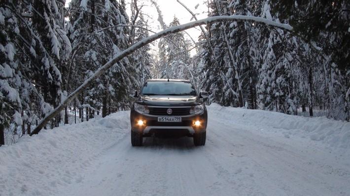 FIAT Fullback — испытание зимой