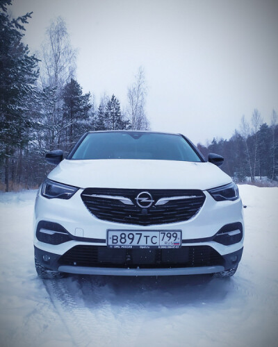 Падал прошлогодний снег. Тестируем Opel GrandlandX.